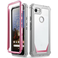 Poetic For Google Pixel 3a Case,Clear Back Shockproof Protective Cover Pink