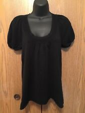 Old Navy Top Womens Size S Short Sleeve Solid Black Shirt Cotton