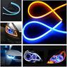 2x 60CM LED Car DRL Daytime Running Lamp Strip Light Flexible Soft Tube^Flexi LD