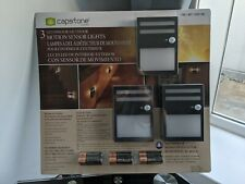 Capstone Led Indoor/Outdoor Motion Sensor Lights (Pack of 3)