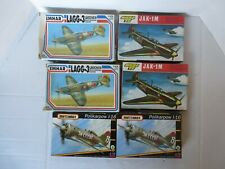 Group A 2 models each of Lagg 3, Jav-1M, Polikarpow 1-16,1/72. See other groups
