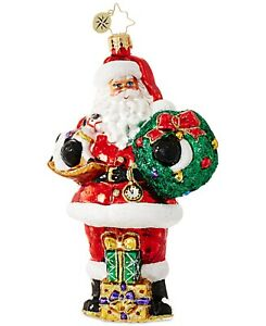 Christopher Radko Traditional Santa Ornament