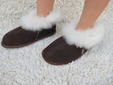 WOMEN'S LEATHER SLIPPERS BOOTS SHEEPSKIN INSIDE WITH WOOL RUBBER SOLE