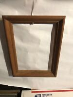 "Vintage Oak Solid Picture Frame Fits 10"" by 14"" Painting"
