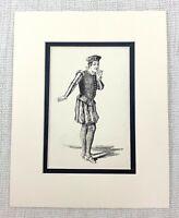 1889 Antico Stampa Fabian The Servant Twelfth Night Costume William Shakespeare