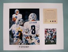 Troy Aikman & Emmitt Smith 1996 NFL Football 11x14 Lithograph Print (scare)