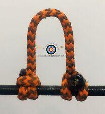 2 Pack- Speckled  Sunset Orange/Black  Archery Release Bow String D Loop,BCY #24