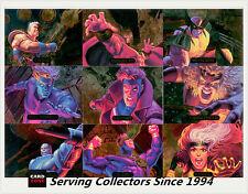 **1994 Marvel Masterpieces Powerblast Card Full Set (9)