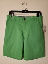 Wonder Nations Boys Flat Front Shorts Size 10 Husky Green New with Tags