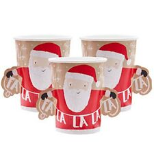 Santa and Friends - 3D Paper Cups - Christmas Tableware
