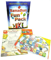 S OFFER! Ramadhan Fun Pack For Kids -Snakes & Ladders, Activity Book / Crayons