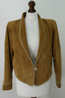 SHERRY MICHALS Brown Suede Jacket Chest size 36""