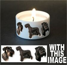 Giant Schnauzer Dog Tea Light Holder by Starprint