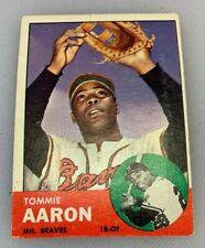 1963 Topps # 46 Tommie Aaron Baseball Card Milwaukee Braves