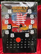 Metallschild, Blechschild, USA, Bike, Kalendarium, ewiger Kalender, Route 66,