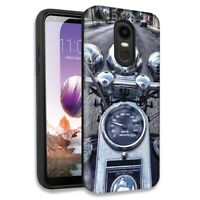 Motorcycle Chopper Double Layer Hybrid Case For LG Aristo 2/2 Plus/Risio 3