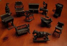 Vintage Durham Industries Metal Doll Furniture Miniature 11 Pieces