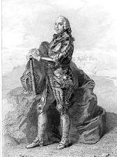 MILITARIAT GRAVURE MARECHAL DE FRANCE / Auguste Fouquet Comte de Belle-Isle 1684
