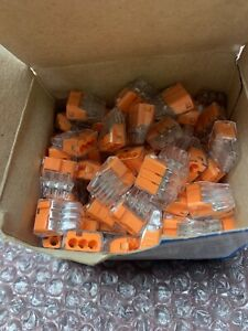 Lot of 100 IDEAL 30-1033 Push In Wire Connector,3 Port,Orange