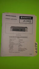 Sanyo ja 340a service manual original repair book stereo power amp amplifier