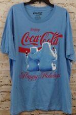 Coca Cola POlar Bear Christmas shirt mens Large Happy Holiday coke tshirt new G7