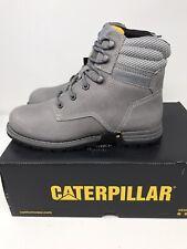 """CAT Caterpillar Women's Paisley 6"""" Steel Toe Work Industrial Boot WIDE Gray"""
