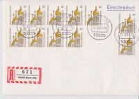 BUND, Mi. 1687 (11) R-FDC Bonn 12.8.93 mit Einlieferungsschein