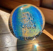 Vintage Blue Bubble Glass Sphere