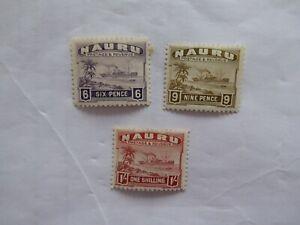 Nauru 1937 Steamer m/mint selection