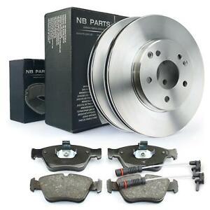 2x Warnkontakt + Bremsbeläge + Bremsscheiben 288mm vorne Mercedes-Benz CLK SLK