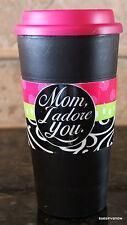 BPA Free Cup Travel Mug Coffee Mom I Adore You 16 oz Dishwasher Safe Insulated