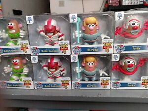 DISNEY PIXAR TOY STORY4 MR. POTATO HEAD SPUDS!(4 COLLECTIBLE CHARACTERS)  NEW