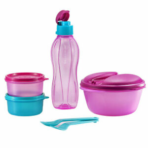 Tupperware Safe2Go Lunch Box Set with Bag - BPA Free - Free Shipping