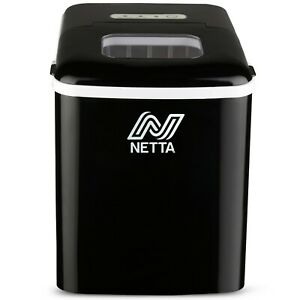 NETTA Black Automatic Countertop Ice Cube Maker Machine No Plumbing Required