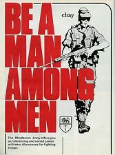 RECRUITING POSTER RHODESIAN ARMY SOUTH AFRICA NEW A4 PRINT