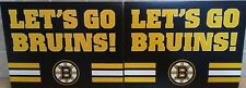 Set of (2) Boston Bruins Rally / Cheering Sign 11 x 14 ( Free Shipping )