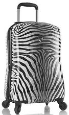 "Heys America Luggage Zebra Equus 21"" Expandable Carry On Spinner Suitcase"