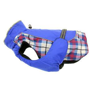 Doggie Design  Alpine All-Weather Dog Coat - Royal Blue Plaid XS-5XL
