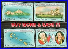 ST.LUCIA 1982 BATTLE of SAINTS MNH SHIPS, MAPS, MILITARY