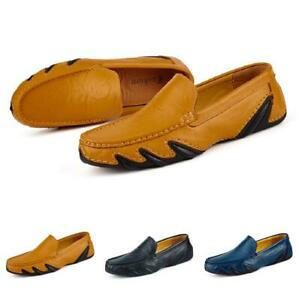Mens Slip on Loafers Shoes Driving Moccasins Breathable Soft Flats Comfy Casual
