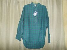 Grandfather Shirt by Lee Valley of Ireland Blue/Green Plaid Flannel