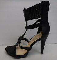 Jessica Simpson Size 8.5 Black Leather Ankle Strap Heels New Womens Shoes