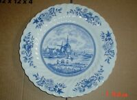 Johnson Brothers TULIP TIME Blue And White Small Dinner Large Salad Plate