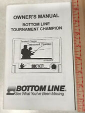 Bottom Line Tournament Champion Fish Finder Sidefinder Owners Manual New Oem