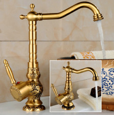 Gold, Antique Brushed Nickel Bath Faucet Single Hole Sink Basin Mixer Tap b189