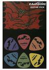 NEW 12 pack kavaborg brand bat themed guitar picks plectrums mixed thickness