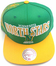 NHL Minnesota North Stars Mitchell and Ness Vintage Laser Stich Snapback Hat Cap