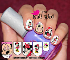 20 Mixed Set MINNIE MOUSE Nail Waterslide Decals Nail Transfers Nail WRAPS