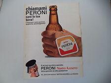 advertising Pubblicità 1968 BIRRA PERONI