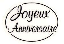 12 Etiquettes autocollantes stickers cadeaux JOYEUX ANNIVERSAIRE - TR Ref TSB2
